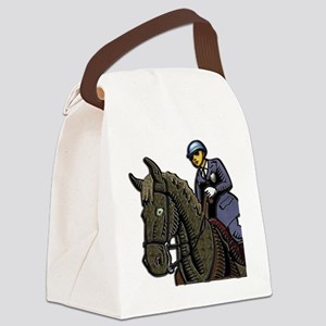 Mounted Policemen Clear Backgroun Canvas Lunch Bag