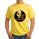 Behind the Mask   Yellow T-Shirt