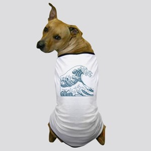 great_wave_blue_10x10 Dog T-Shirt