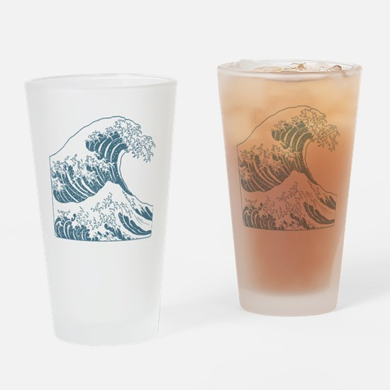 great_wave_blue_10x10 Drinking Glass