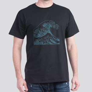 great_wave_blue_10x10 Dark T-Shirt