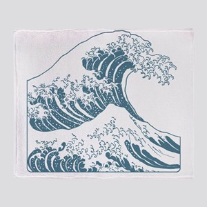 great_wave_blue_10x10 Throw Blanket