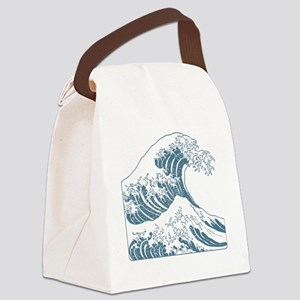 great_wave_blue_10x10 Canvas Lunch Bag