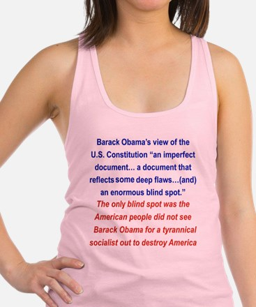 2-OBAMAS VIEWS ON THE CONSTITUT Racerback Tank Top