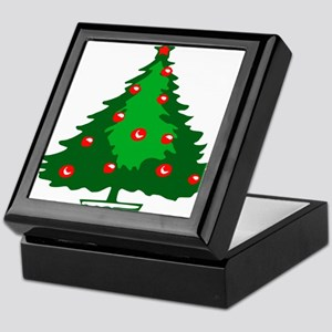 Decorated Christmas Tree Keepsake Box