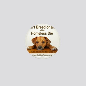 dont_breed_or_buy_puppy_1a-trans Mini Button
