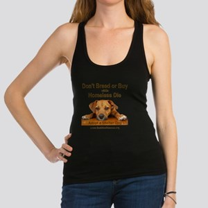 dont_breed_or_buy_puppy_1a-tran Racerback Tank Top