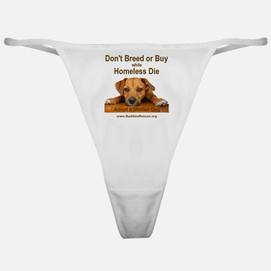 dont_breed_or_buy_puppy_1a-trans Classic Thong