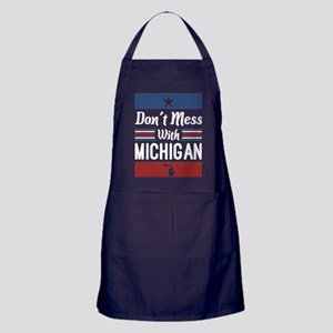 Dont Mess With Michigan Apron (dark)