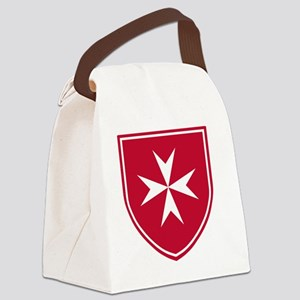 Cross of Malta - Red Shield Canvas Lunch Bag