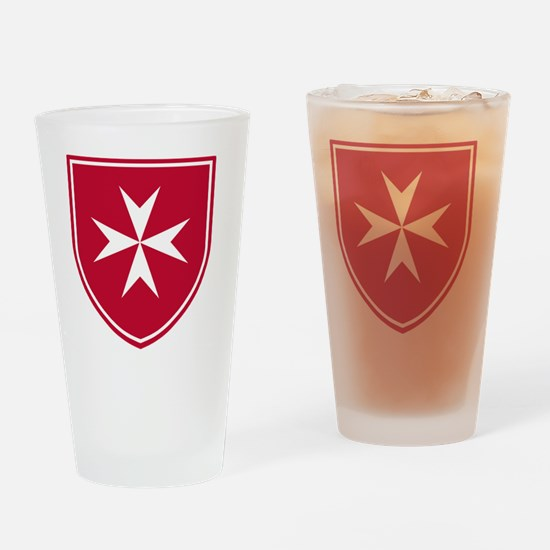 Cross of Malta - Red Shield Drinking Glass