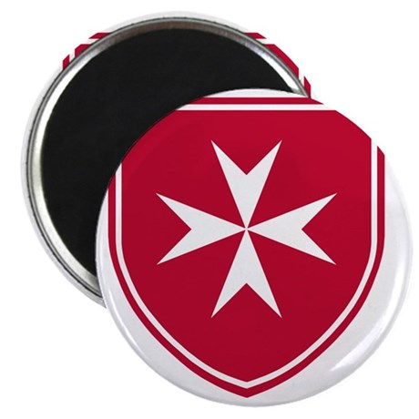 Cross of Malta - Red Shield Magnet
