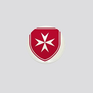 Cross of Malta - Red Shield Mini Button