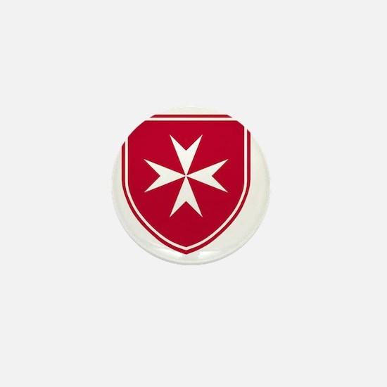 Cross of Malta - Red Shield Mini Button