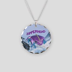 FrogOnLogZipperheadPurple Necklace Circle Charm