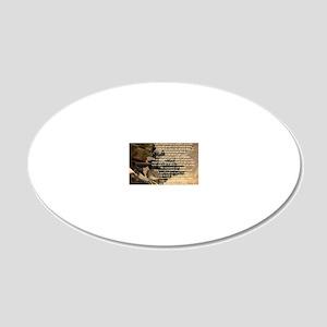 creed2321 20x12 Oval Wall Decal