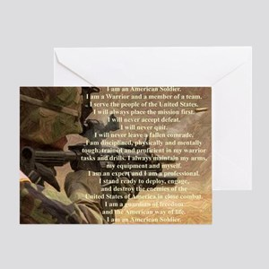 Military greeting cards cafepress creed2321 greeting card m4hsunfo