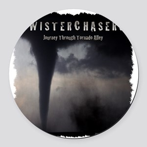 TwisterChasers T Shirt Round Car Magnet