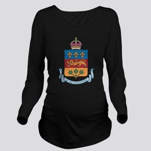 Quebec Coat Of Arms Long Sleeve Maternity T-Shirt
