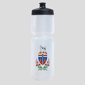 Yukon Coat Of Arms Sports Bottle