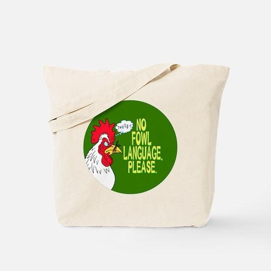Fowl Language Button Tote Bag