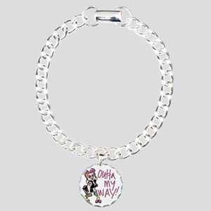 rollergrrl outta my way Charm Bracelet, One Charm