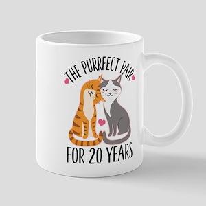 20th Anniversary Purrfect Pair Mugs