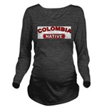 Colombia Native Long Sleeve Maternity T-Shirt