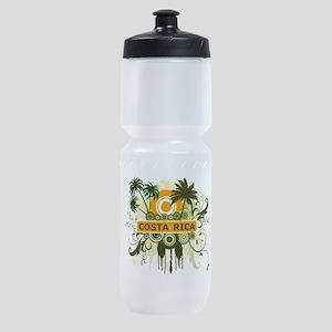 Palm Tree Costa Rica Sports Bottle