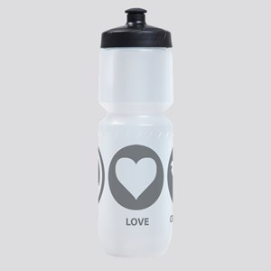 Peace Love Costa Rica Sports Bottle