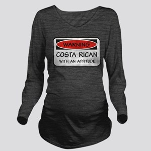 Attitude Costa Rican Long Sleeve Maternity T-Shirt