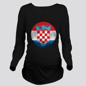 Croatia Football Long Sleeve Maternity T-Shirt