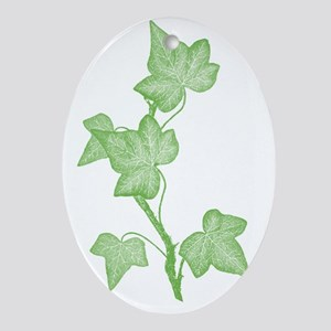 IvyLeaves Oval Ornament