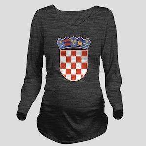 Croatia Coat Of Arms Long Sleeve Maternity T-Shirt