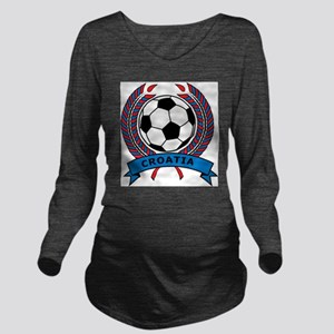 Soccer Croatia Long Sleeve Maternity T-Shirt