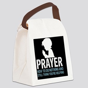 2-Prayer.square Canvas Lunch Bag