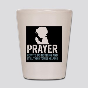 2-Prayer.square Shot Glass