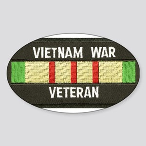 RVN War Veteran Oval Sticker