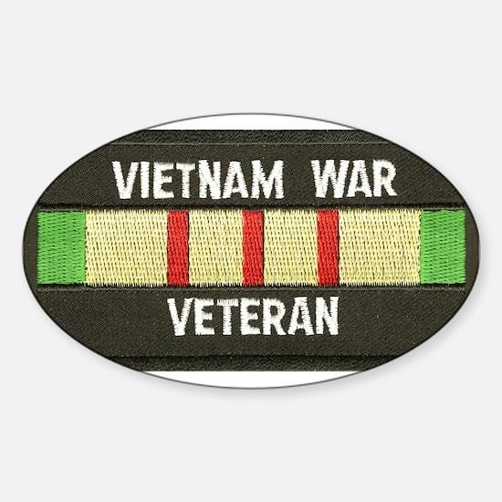 RVN War Veteran Oval Decal