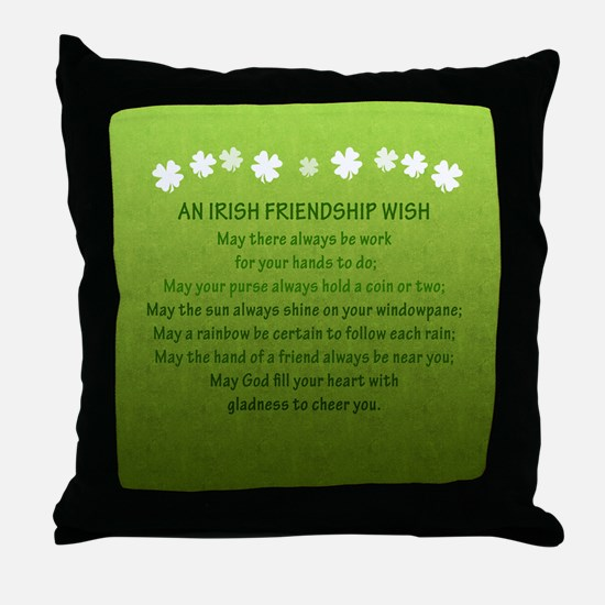 2-FriendshipWishSquare_Bleed Throw Pillow