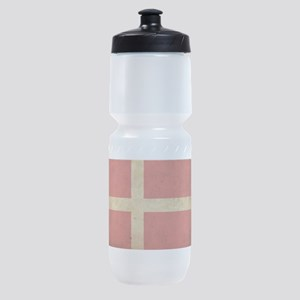 Vintage Denmark Flag Sports Bottle