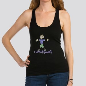 3-i love mommy- son2 Racerback Tank Top