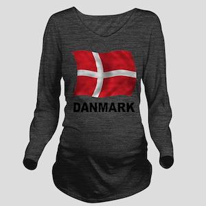 Danmark Long Sleeve Maternity T-Shirt