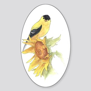 finished goldfinch Sticker (Oval)
