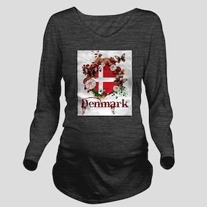 Butterfly Denmark Long Sleeve Maternity T-Shirt