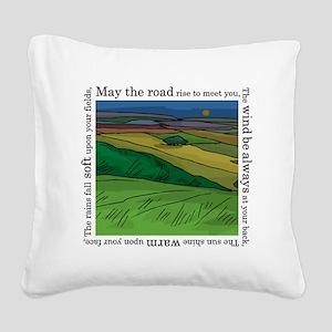 MaytheroadFINALmain. Square Canvas Pillow