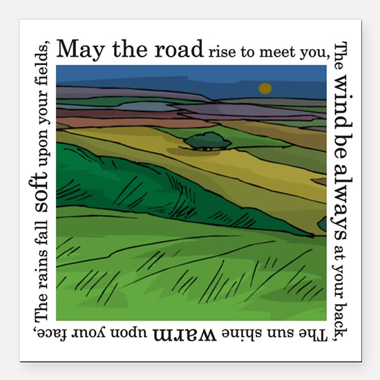 "MaytheroadFINALmain. Square Car Magnet 3"" x 3"""