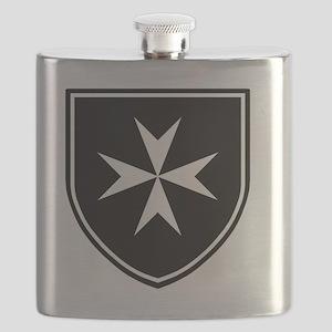Cross of Malta - Black Shield Flask