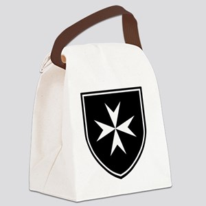 Cross of Malta - Black Shield Canvas Lunch Bag