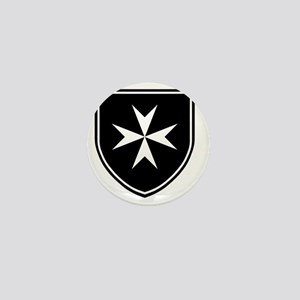 Cross of Malta - Black Shield Mini Button